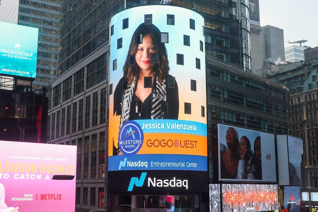 Jessica Valenzuela_CEO_GoGoGuest_Nasdaq Milestone Maker_Small