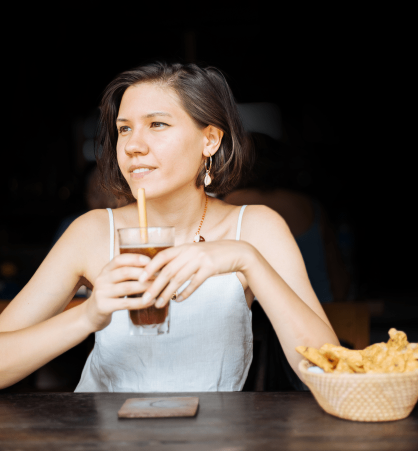 Blog Content: Woman drinking coffee